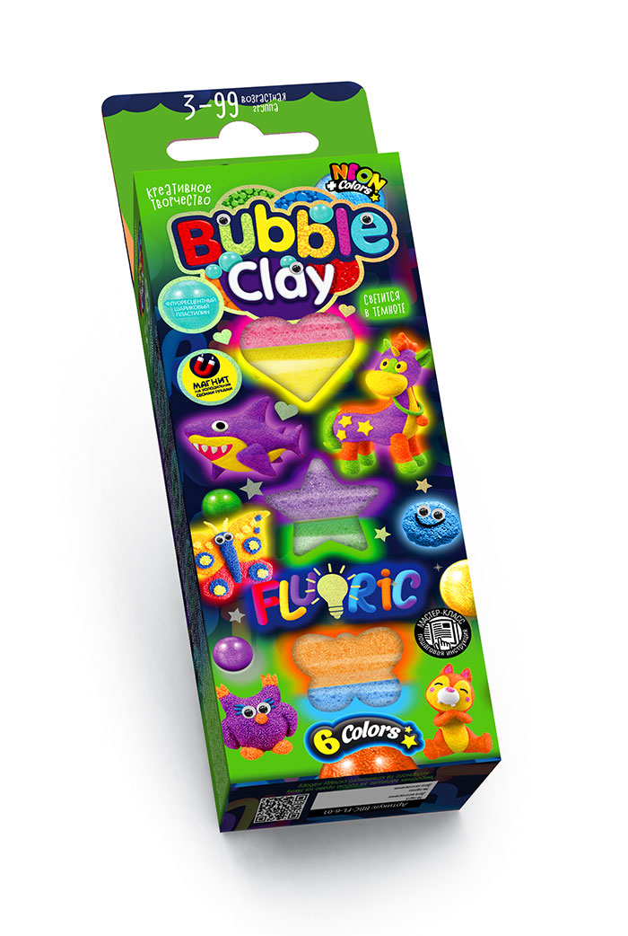 Bubble Clay «Fluoric» 6 кол.